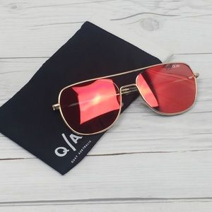 QUAY Australia Red Gold Running Riot Sunglasses